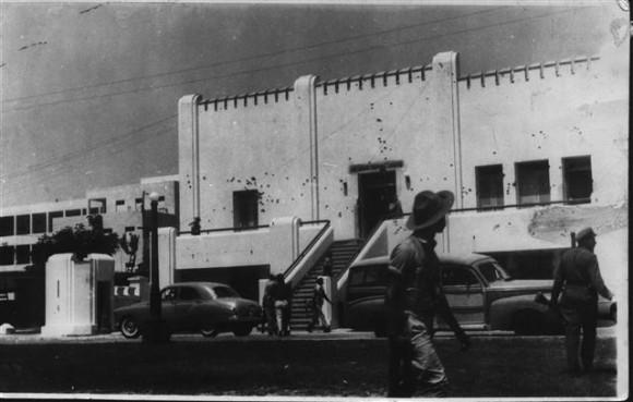 El Cuartel Moncada después del Asalto del 26 de Julio de 1953. Foto: Archivo de Cubadebate