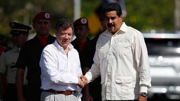 Maduro y Santos en el encuentro bilateral del 22 de julio de 2013. Foto: Reuters
