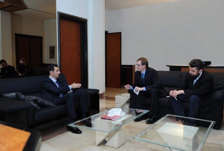 entrevista bashar al assad a periódico ruso