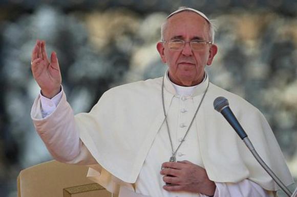 El Papa Francsico, persona del año 2013 para Time. Foto: Archivo (AFP).