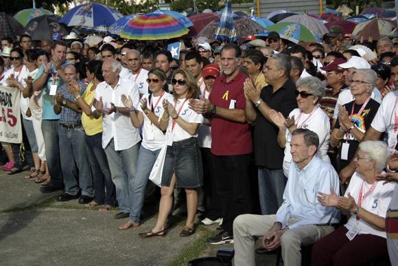 Acto por los Cinco en Holguín Foto: Daylén Vega / Cubadebate.