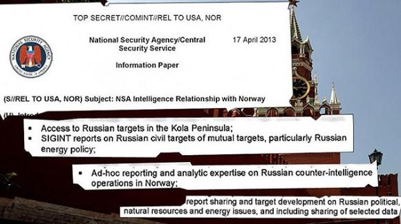 Noruega espia para EE.UU.