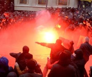 Manifestaciones en Kiev. Foto: Archivo (AFP).