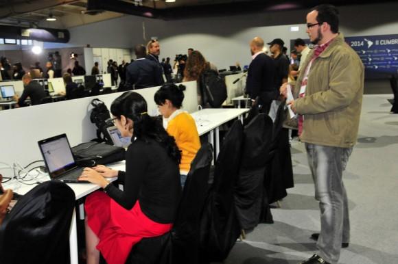Sala de Prensa de la II Cumbre de la CELAC. Foto: Ladyrene Pérez/Cubadebate.