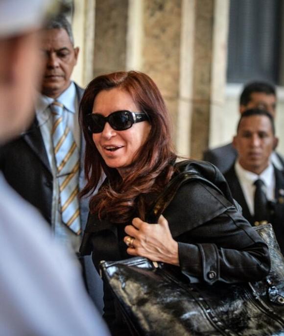 Momento de la llegada de Cristina a La Habana. Foto: AFP