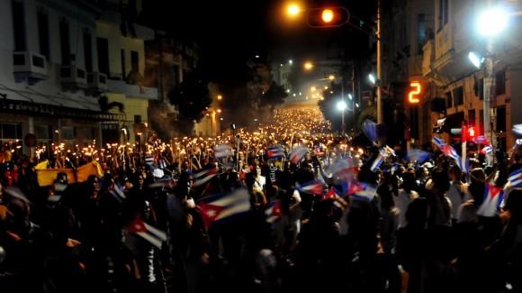 Marcha de las Antorchas en la que participaron dirigentes de la CELAC. Foto: Ladyrene Pérez/ Cubadebate