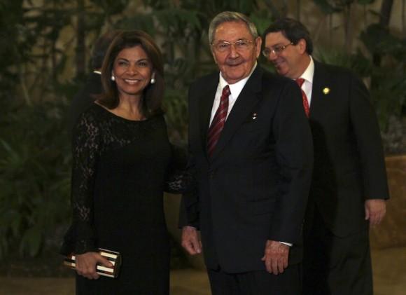 Raúl Castro y Laura Chinchilla, Presidenta de Costa Rica. Foto: Ismael Francisco/ Cubadebate