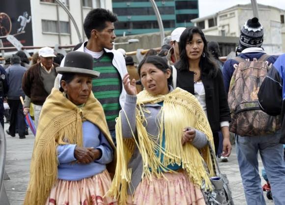 Se dice que solo en La Paz las cholas manejan el sesenta por ciento de los locales de cómida, las ferias agrícolas o los puestos callejeros de rompa y otros insumos.