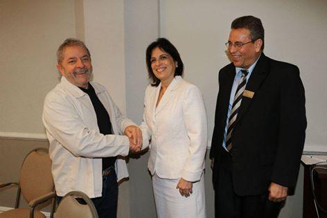 Lula con la embajadora cubana y ministro de la agricultura