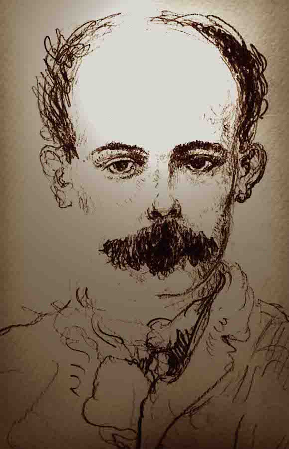 """""""Martí"""", de José Luis Fariñas. Pastel graso. Enero, 2013."""