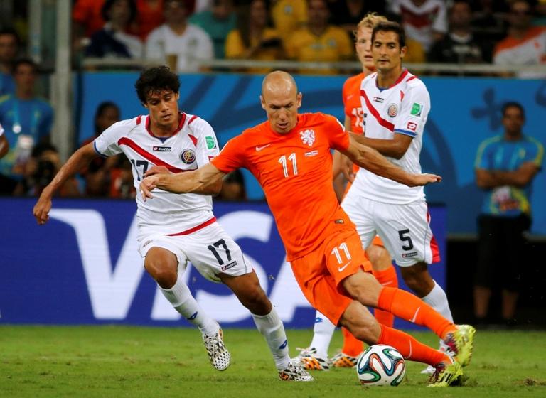 Partido entre Holanda y Costa Rica