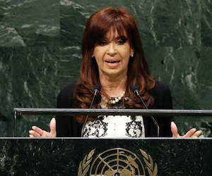 Cristina Fernández en la ONU. Foto: AP.