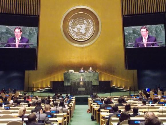 Bruno en la ONU contra el Bloqueo 2014 2