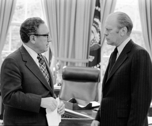Henry A. Kissinger y Gerald R. Ford.