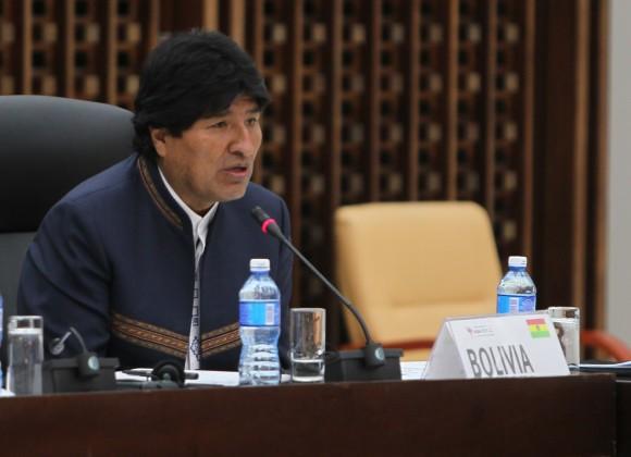 Evo Morales, presidente de Bolivia, durante la Cumbre Extraordinaria sobre el Ébola. Foto: Ismael Francisco / Cubadebate.