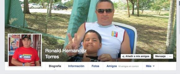 Cabezal de la página de Facebook de Ronald, el médico cubano en Liberia, que escribió este mensaje.