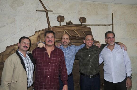 Raúl Castro en el encuentro con Gerardo Hernández, Ramón Labañino y Antonio Guerrero. Foto: Estudios Revolución