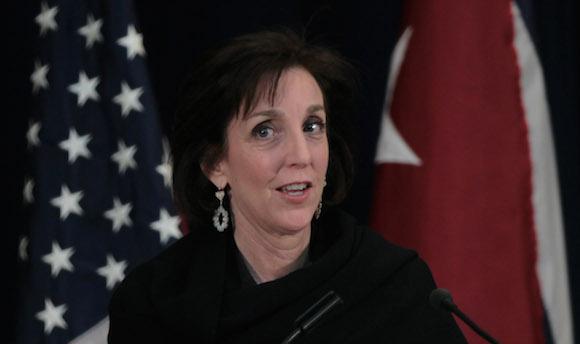 Roberta Jacobson en la conferencia de prensa. Foto: Ismael Francisco/ Cubadebate