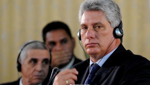 Primer vicepresidente cubano, Miguel Díaz-Canel, durante la IX Cumbre Extraordinaria de Petrocaribe. Foto: AIN.