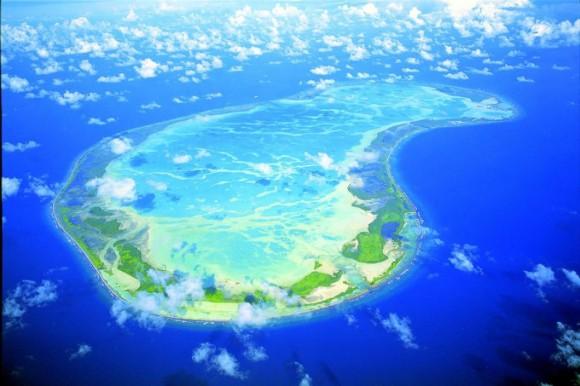 Una de las islas de Kiribati. Foto tomada de abc.net.au