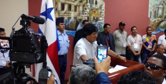 Evo Morales en la Cumbre de los Pueblos. Foto: Ismael Francisco/ Cubadebate