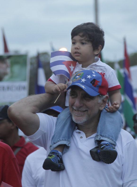 Los Cinco en el Primero de Mayo. Foto: Ismael Francisco/ Cubadebate