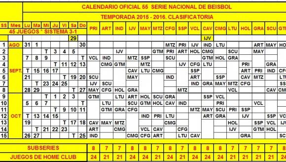 calendario 55 serie nacional