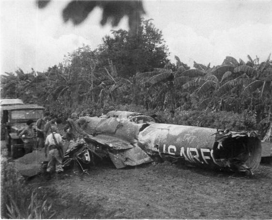 El U2 derribado sobre suelo cubano durante la crisis de octubre. Foto de archivo.