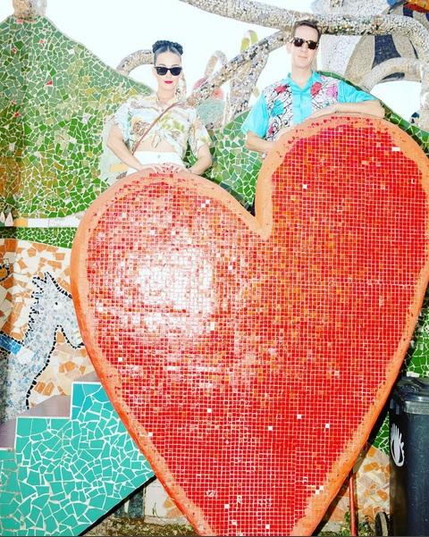 Katy Perry en los predios de Fúster. Foto: Cuenta de Instagram de la cantante