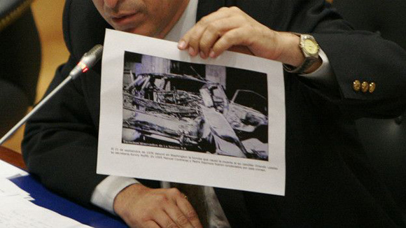 Una bomba destruyó el auto del excanciller chileno, quien se había exiliado en Washington. Foto: Tomada de