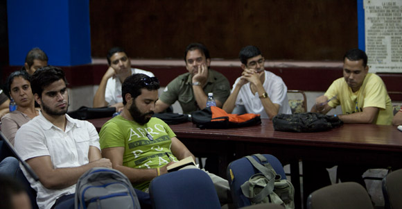 Periodistas durante la conferencia de prensa. Foto: Ismael Francisco/Cubadebate
