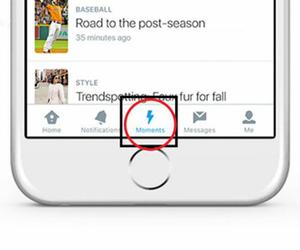 """Puede ser encontrada """"Moments"""" es representada por un ícono de relámpago en el sitio o en la aplicación. Foto: Twitter."""