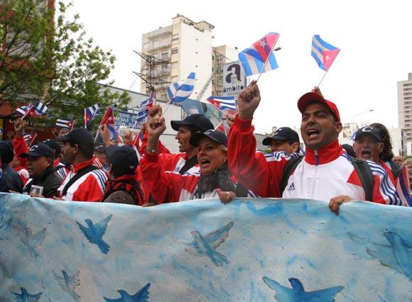 Cumbre de los Pueblos Mar del Plata Argentina Nov 2005. Foto: Ismael Francisco/Cubadebate.