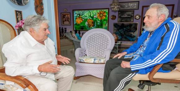 Fidel con Mujica