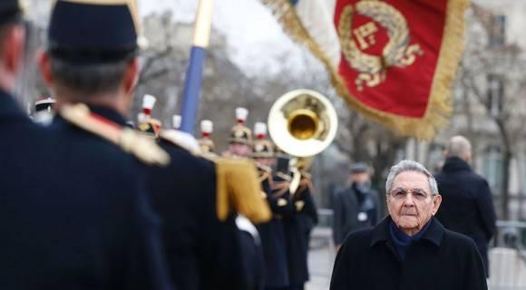 Raúl durante su visita de Estado a París. Foto: Jacky Naegelen/ AFP/ Pool