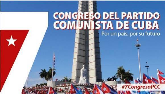 VII Congreso del Partido Comunista de Cuba, del 16 al 19 de abril de 2016.  Diseño: Luis Amigo/Cubadebate.