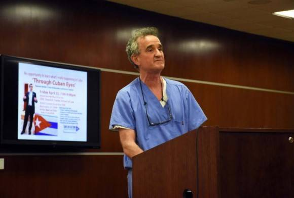 Joe Cassidy del Sindicato Nacional de Enfermeros Unidos. Foto: Bill Hackwell