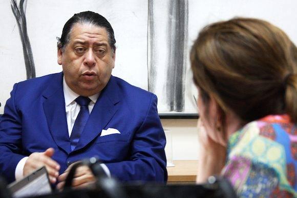 Hermann Escarrá en Cubadebate. Foto: Embajada de Venezuela en Cuba