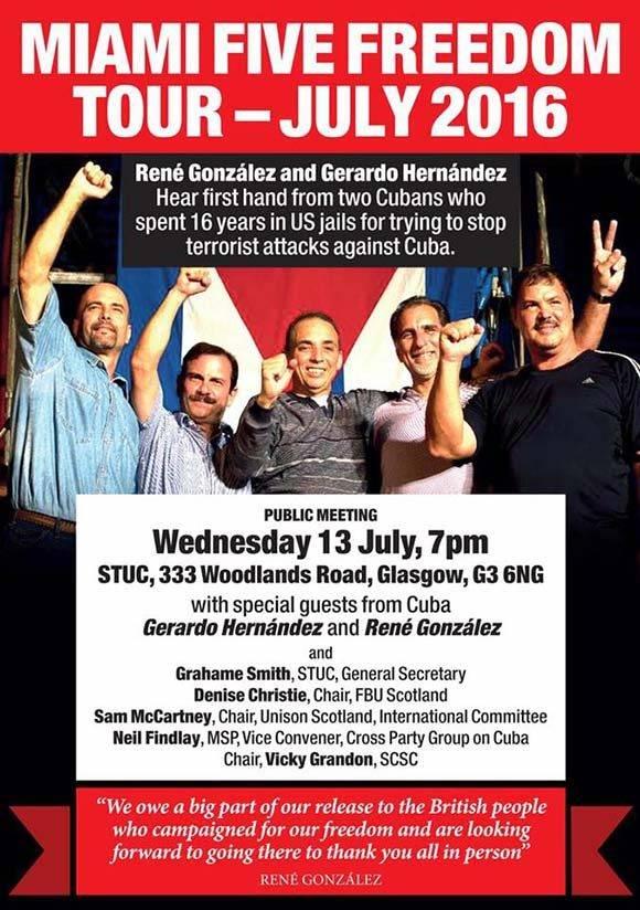 El Tour fue financiado por recaudaciones de activistas y sindicalistas británicos. Foto: Cuba Solidarity Campaing/ Facebook.