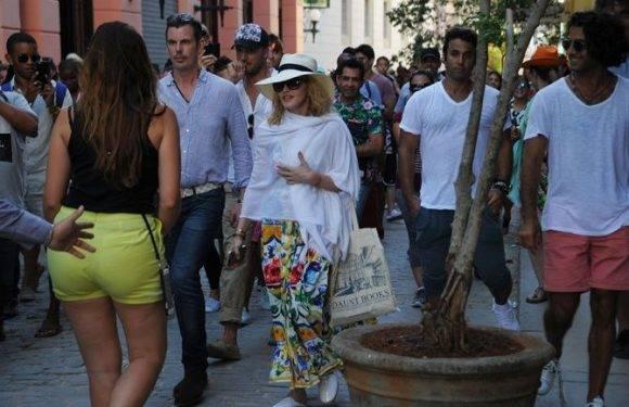 Madonna en La Habana Vieja. Foto: Twitter
