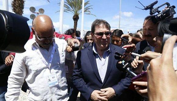 Bruno Rodríguez Parrilla, arribó la tarde de este miércoles a Venezuela. Foto: @MNOAL_Venezuela.