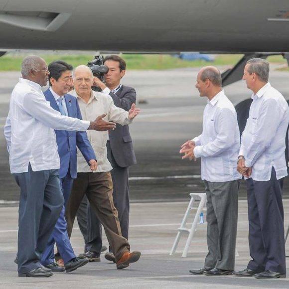 Resultado de imagen para llega a cuba primer ministro japones