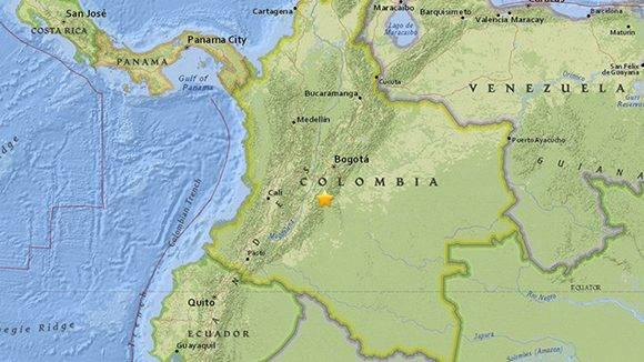 Un sismo de magnitud 5,4 sacude Colombia.
