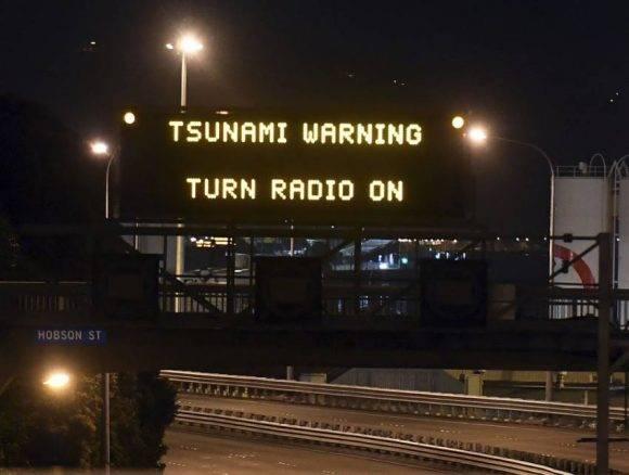 En Nueva Zelanda, alerta de Tsunami.