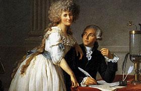 Retrato del científico Lavoisier y su esposa, por Jacques-Louis David