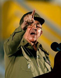 Raúl Castro el 26 de Julio en Santiago de Cuba