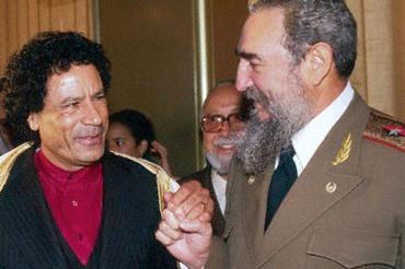 Muamar el Gadafi y Fidel Castro
