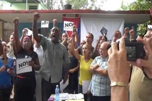 Líder del Frente de Resistencia Cívica Orlando Zapata Tamayo, llama a reforzar la lucha pacífica (foto del autor)