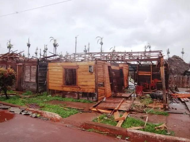 Otra imagen de los estragos de Matthew en la Sabana de Maisí (foto cortesía)