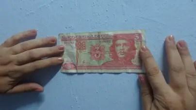 El peso cubano, papel de bolsillo